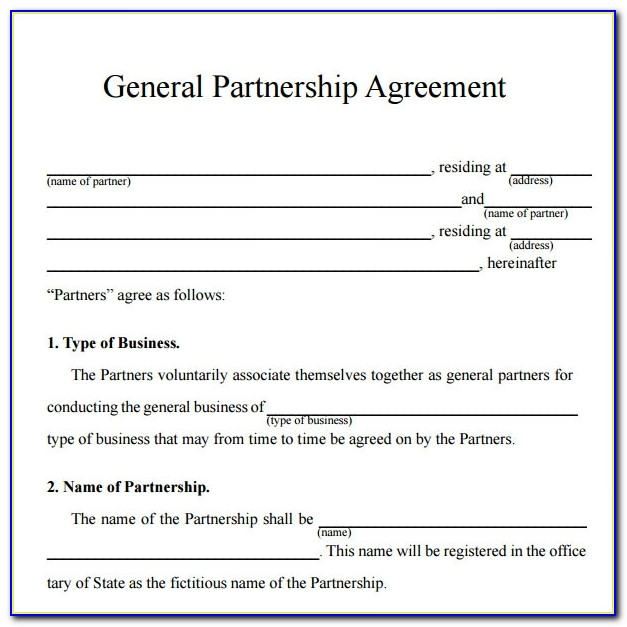 Business Partnership Agreement Template Australia