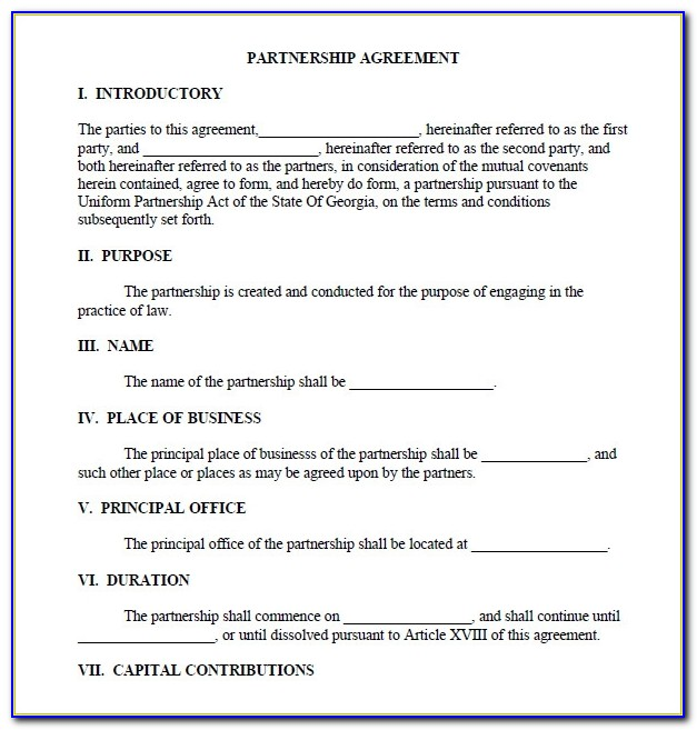 Business Partnership Agreement Templates