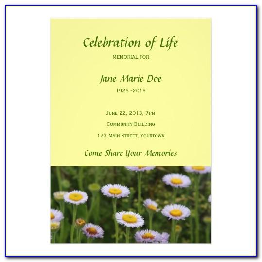 Celebration Of Life Slideshow Template