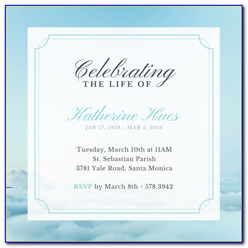 Celebration Of Life Template Free Download