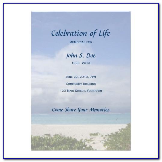 Celebration Of Life Template Free