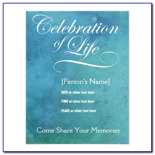 Celebration Of Life Template Powerpoint