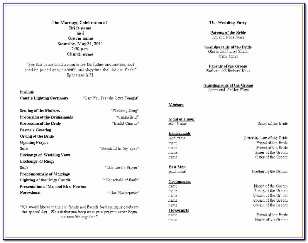 Wedding Ceremony Program Template Free Wedding Ceremony Itinerary Template Awesome Pdf Word Excel Template Cytau