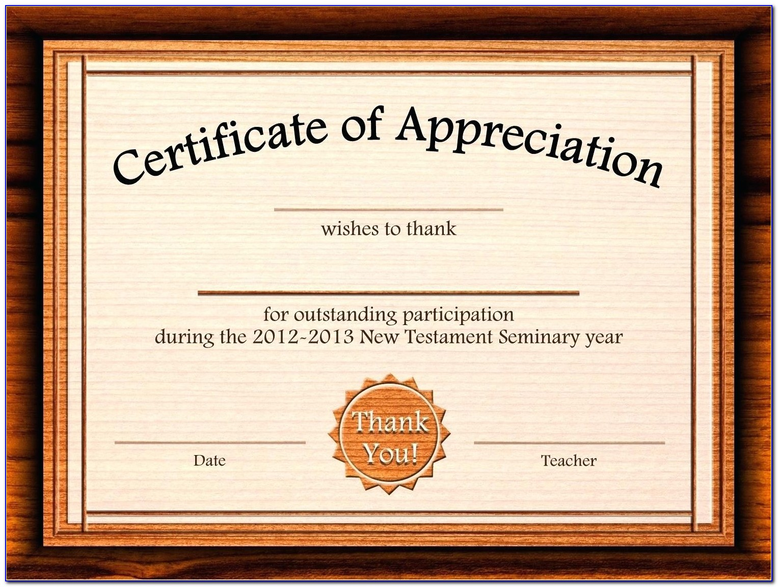 Certificate Of Appreciation Templates For Employees