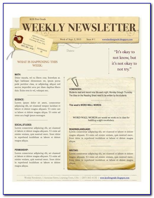Church Newsletter Templates Microsoft Word
