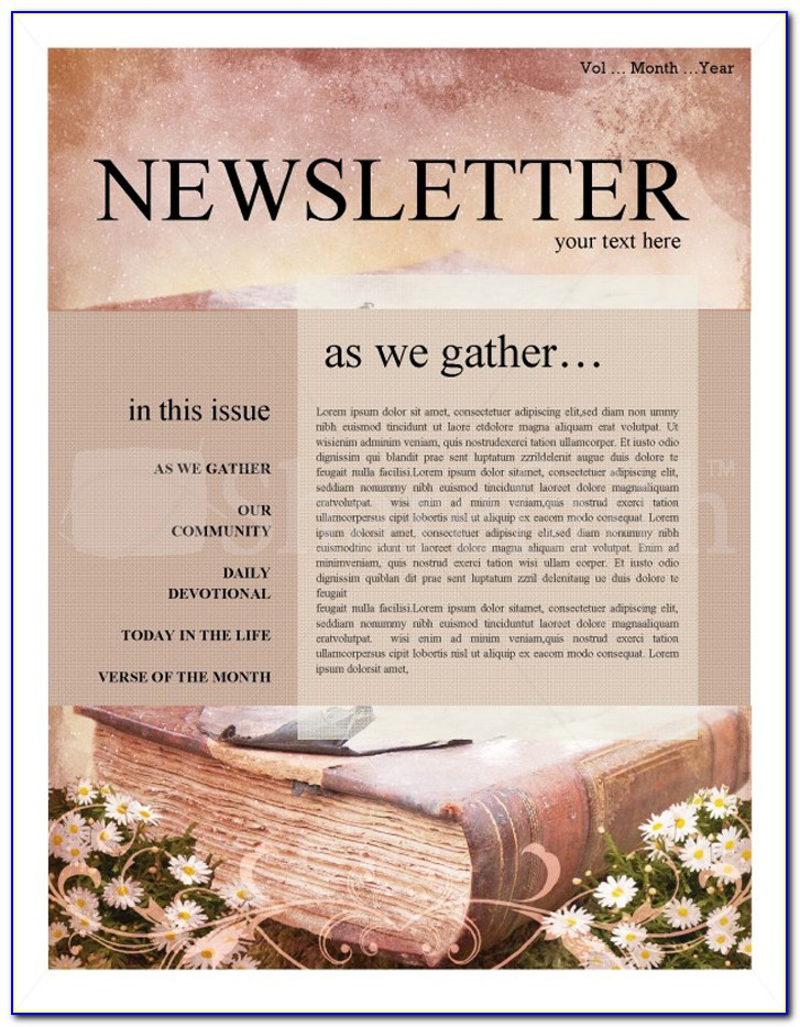 Church Newsletter Templates Word