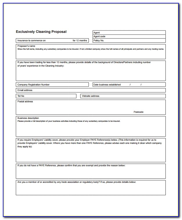 Cleaning Proposal Template Pandadoc