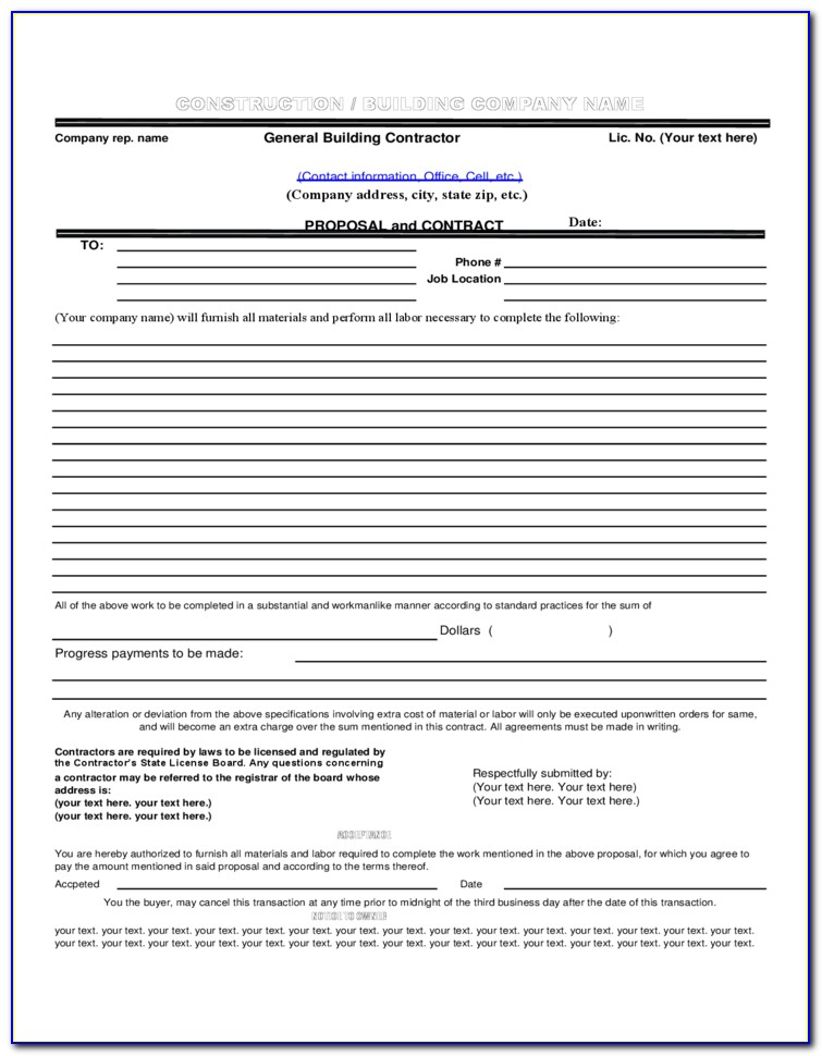 Contract Proposal Template Pdf