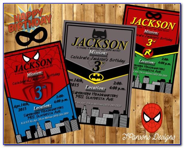 Dc Superhero Invitation Template