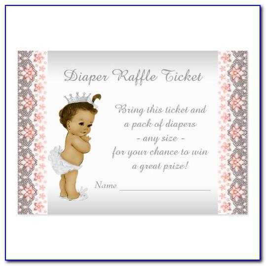 Diaper And Wipe Raffle Template