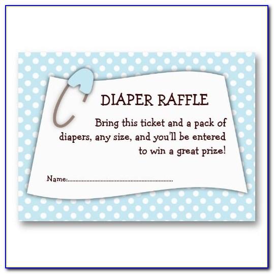 Diaper Raffle Template