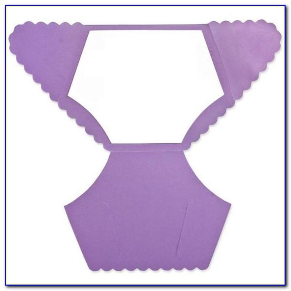 Diaper Shaped Invitation Template