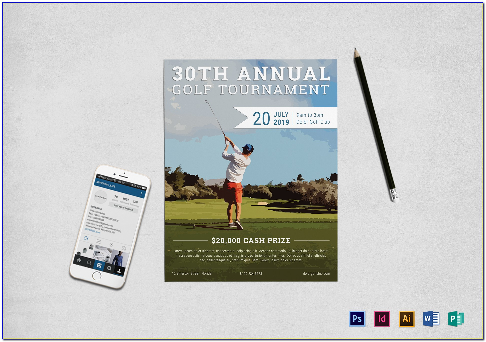 Disc Golf Tournament Flyer Template