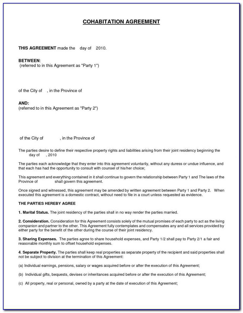 Divorce Settlement Agreement Template Uk