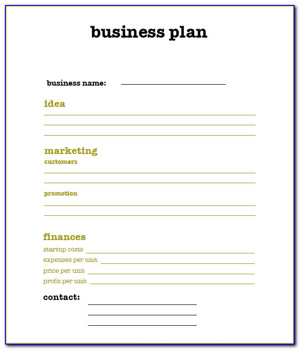 Download Simple Business Plan Template Word