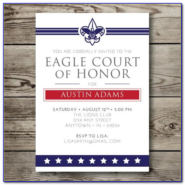Eagle Scout Invitation Template