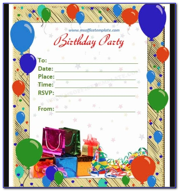 Editable Birthday Invitations Templates Free For Boy