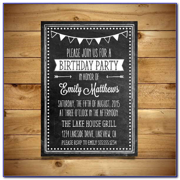 Editable Birthday Invitations Templates Free Word