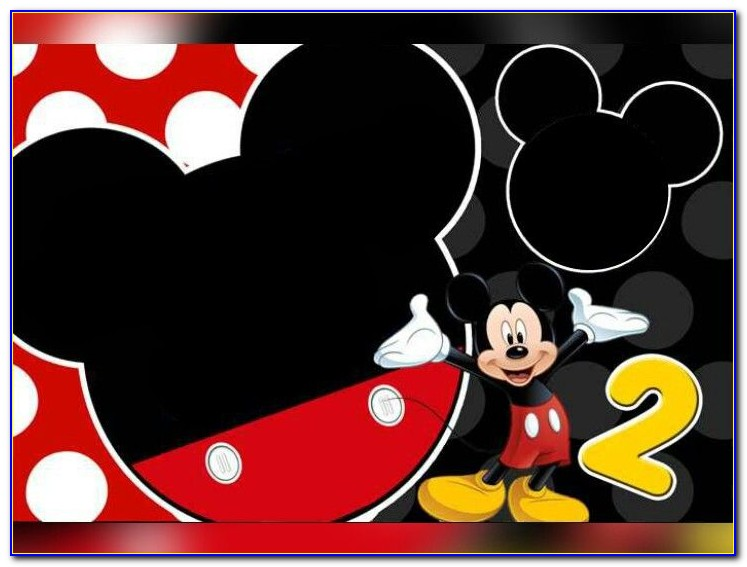 Editable Mickey Mouse Birthday Invitation Template