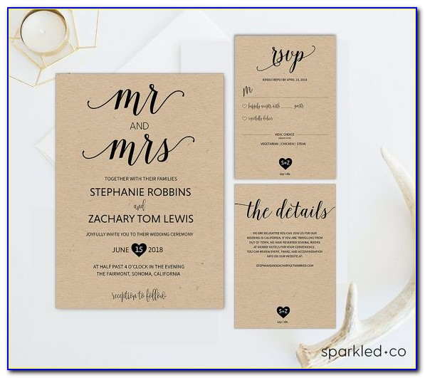 Editable Rustic Wedding Invitation Templates Free Download