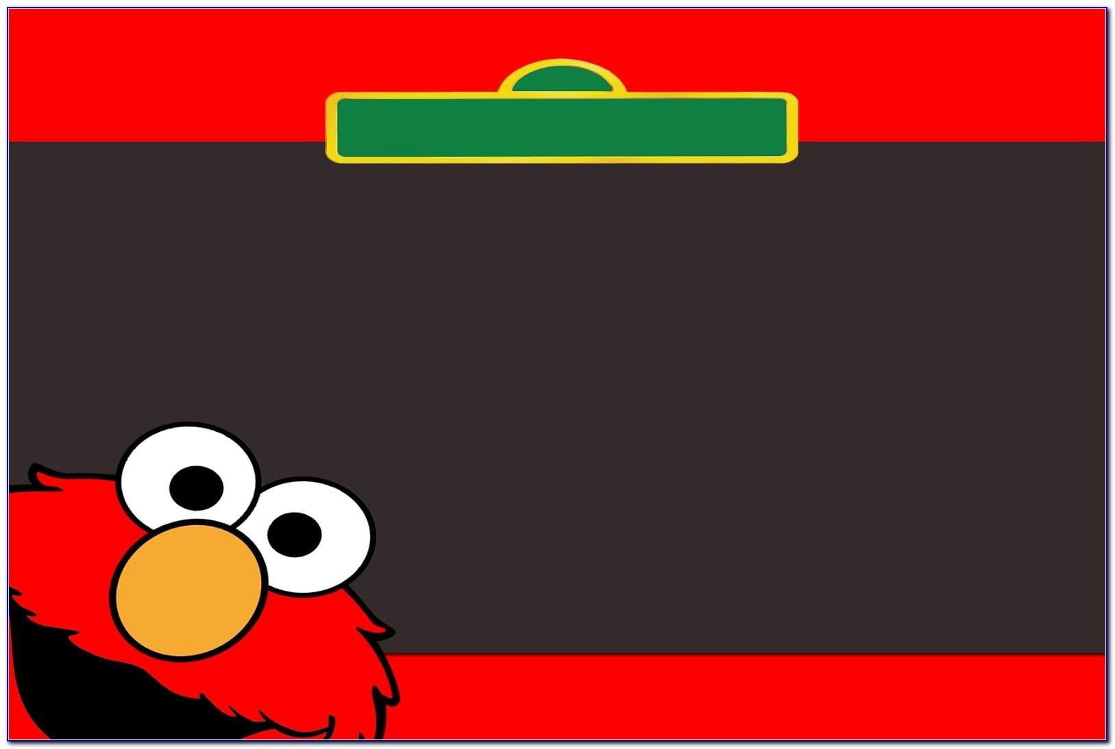 Elmo Invitations Template Free