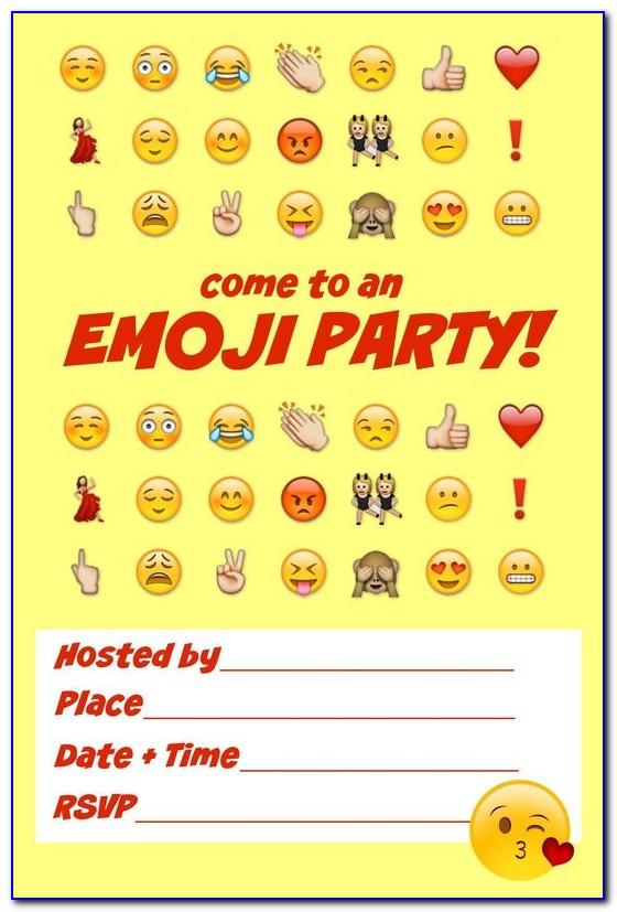 Emoji Party Invite Template Free