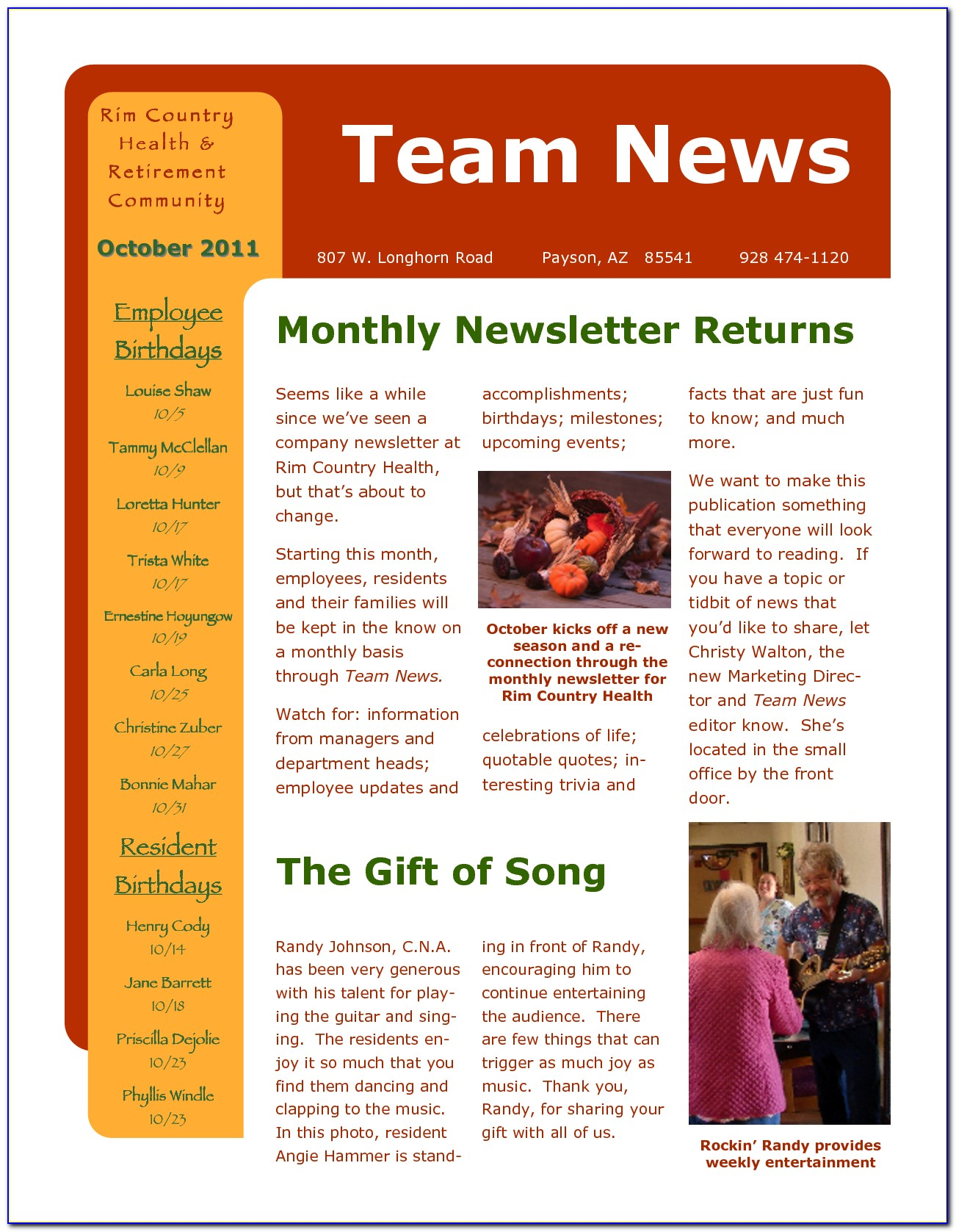 Employee Newsletter Layout Ideas