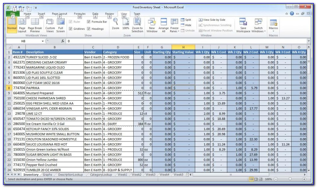 Excel Inventory Management Template With Barcode