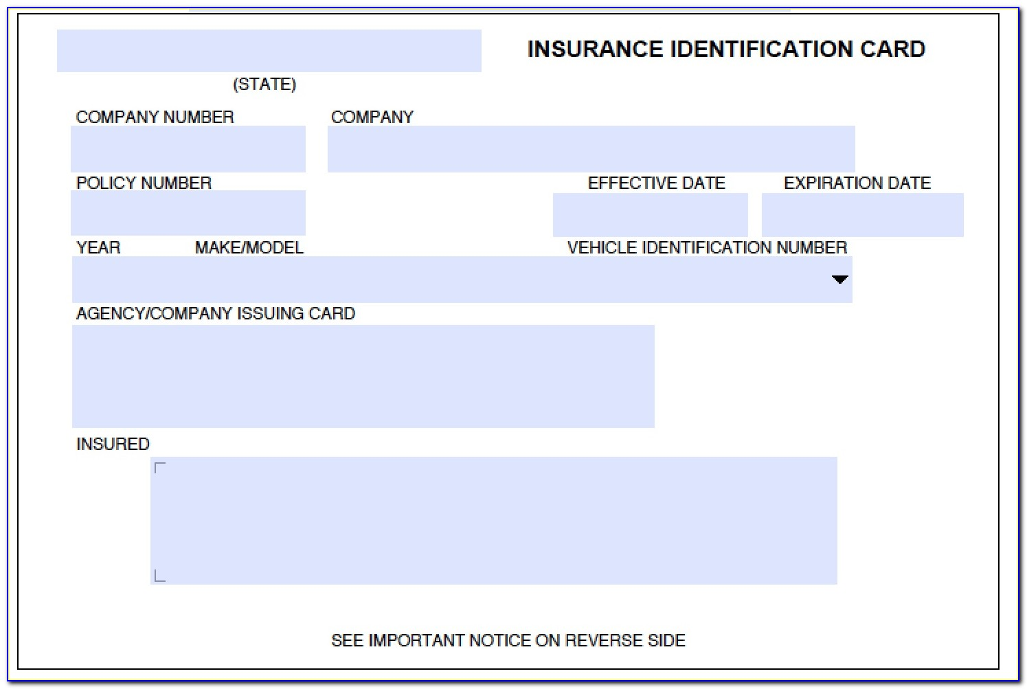 Fake Insurance Card Template Pdf