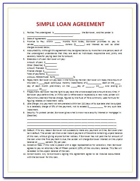 Family Loan Agreement Template Australia