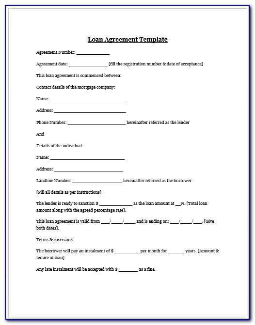 Family Loan Agreement Template Uk