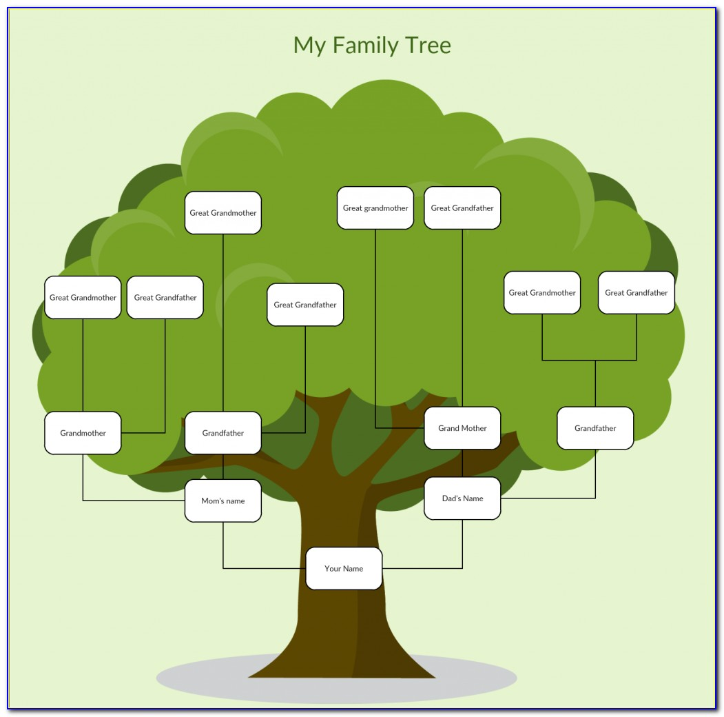 Family Tree With Photos Template
