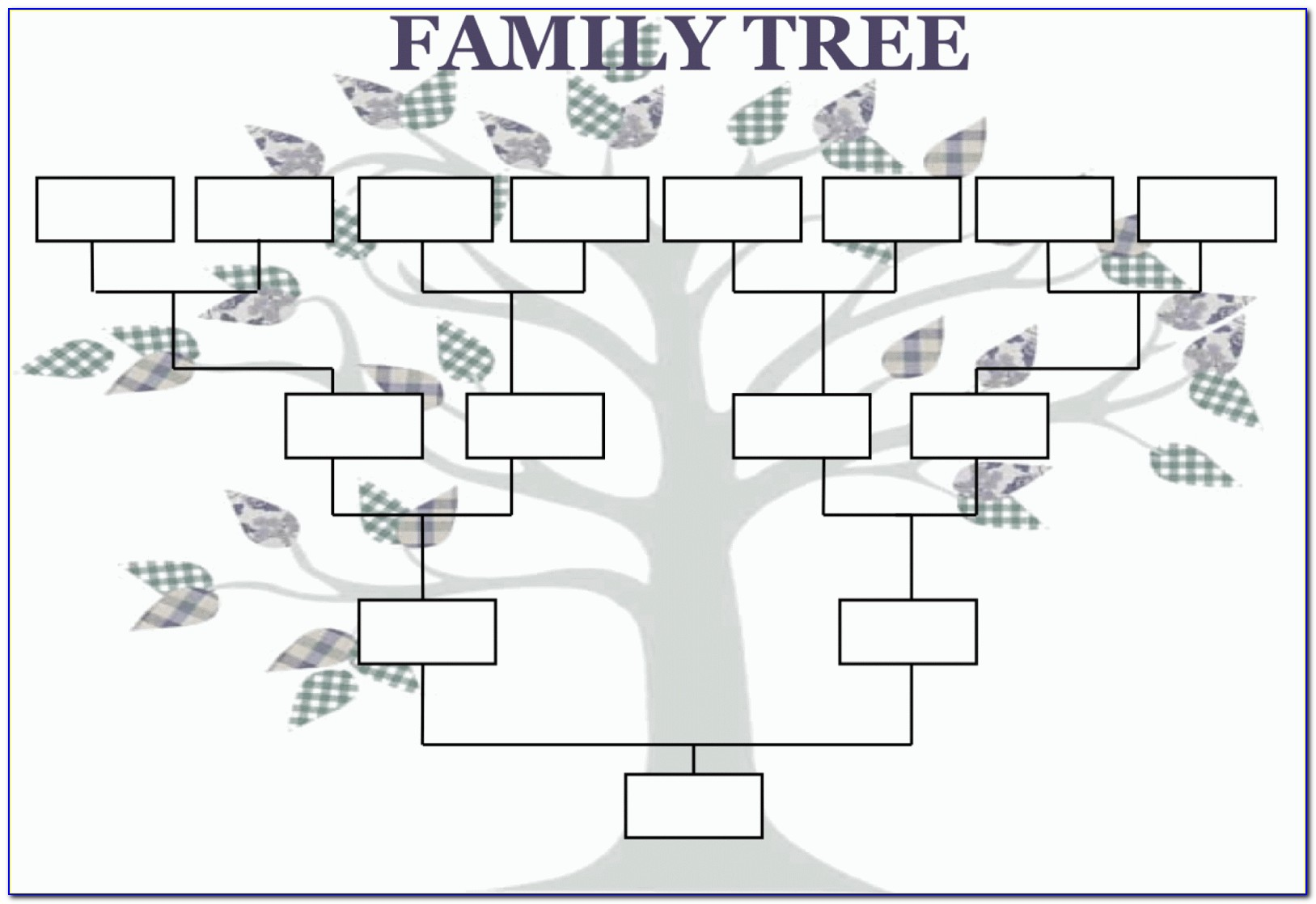 Family Tree With Pictures Template