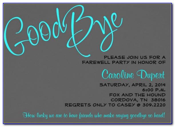 Farewell Invitation Template Free Download