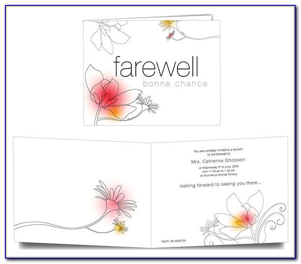Farewell Invitation Template Online