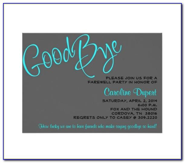 Farewell Invitation Template Word Free