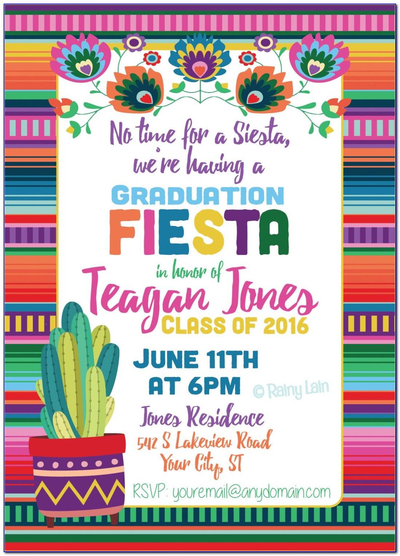 Fiesta Invitation Card Template