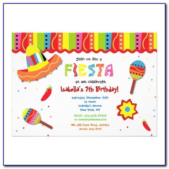 Fiesta Invitation Template Free