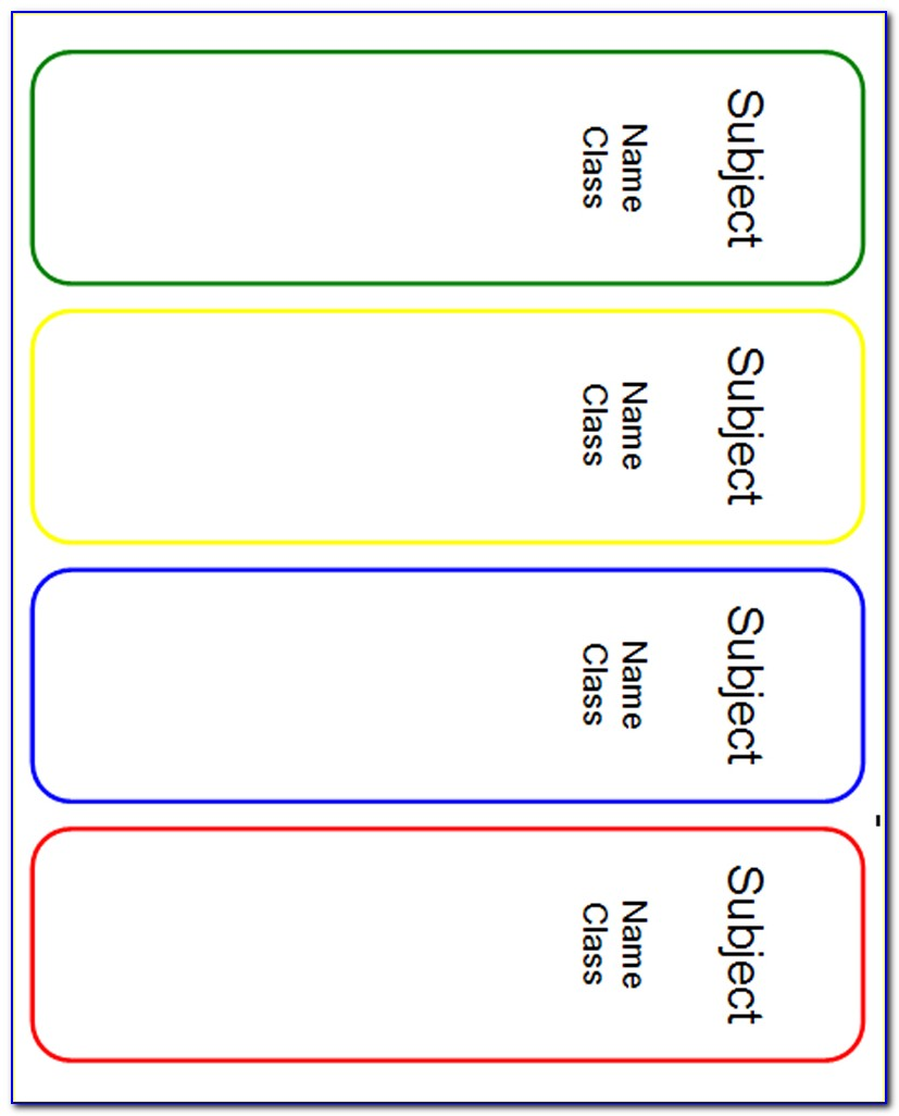 File Cabinet Drawer Label Inserts Template