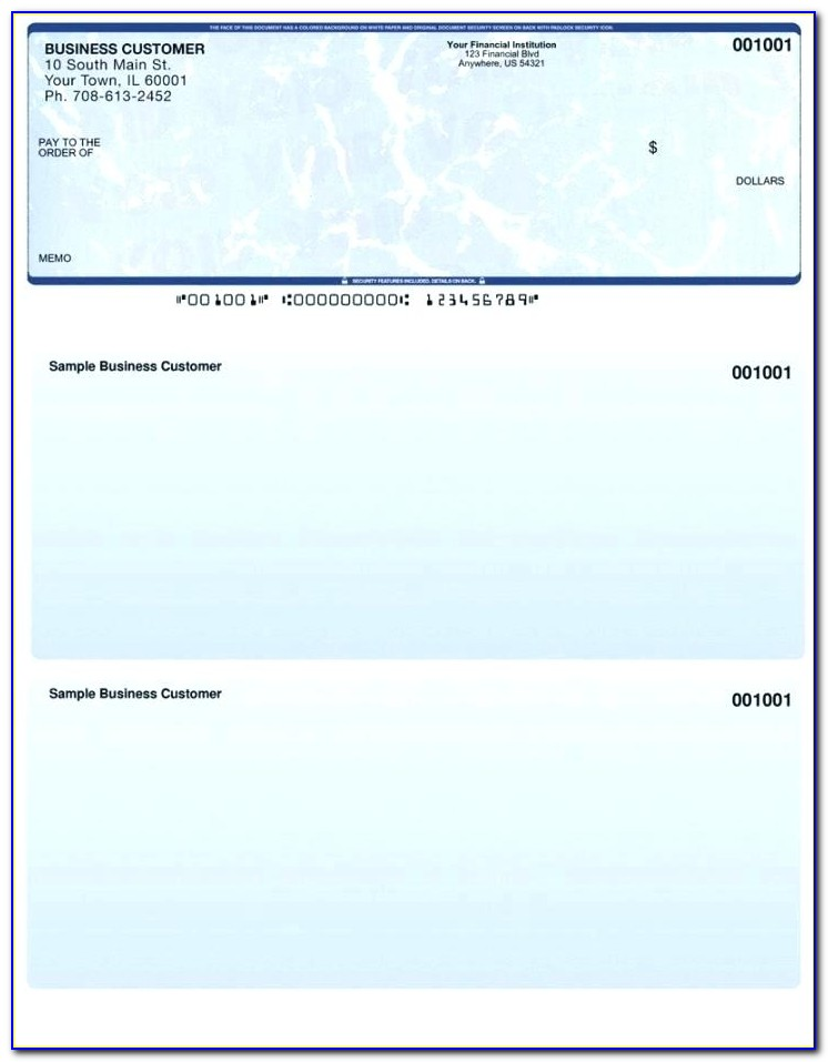 Fillable Blank Business Check Template
