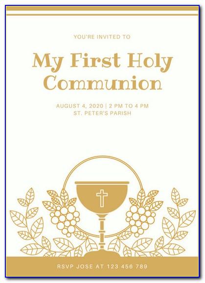 First Communion Invitation Templates Free