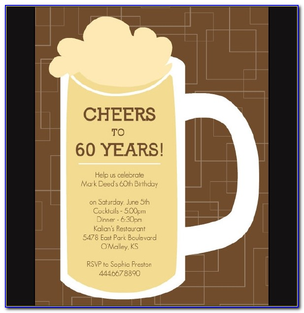 Free 60th Birthday Invitation Templates For Word
