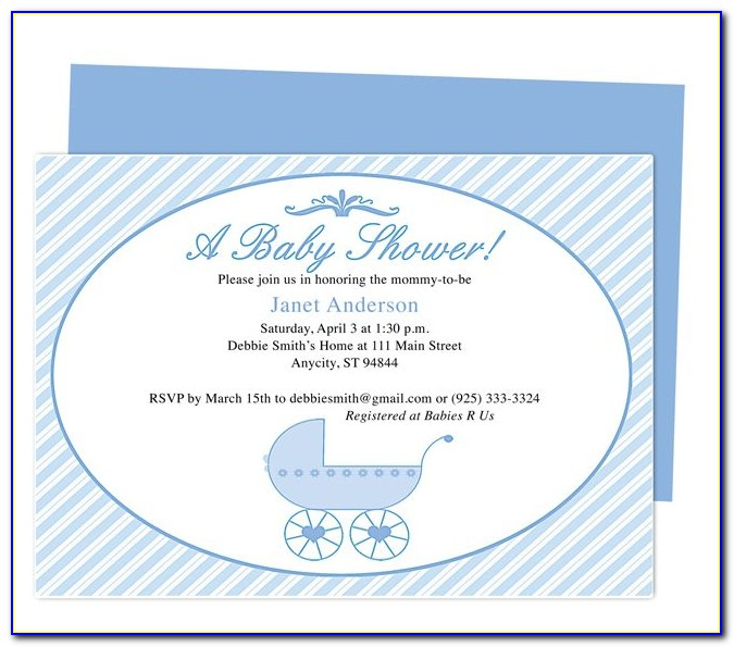 Free Baby Shower Invitations Word Templates