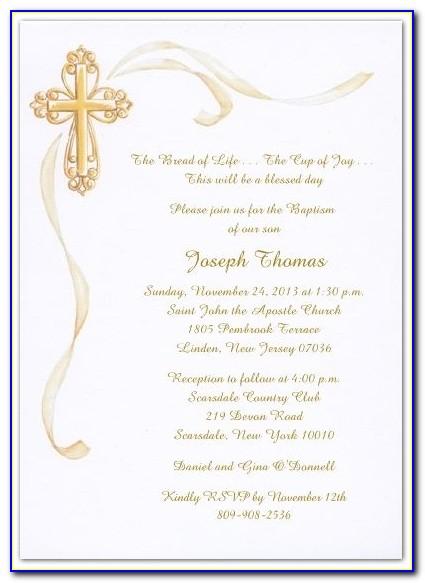 Free Baptism Invitation Template Psd
