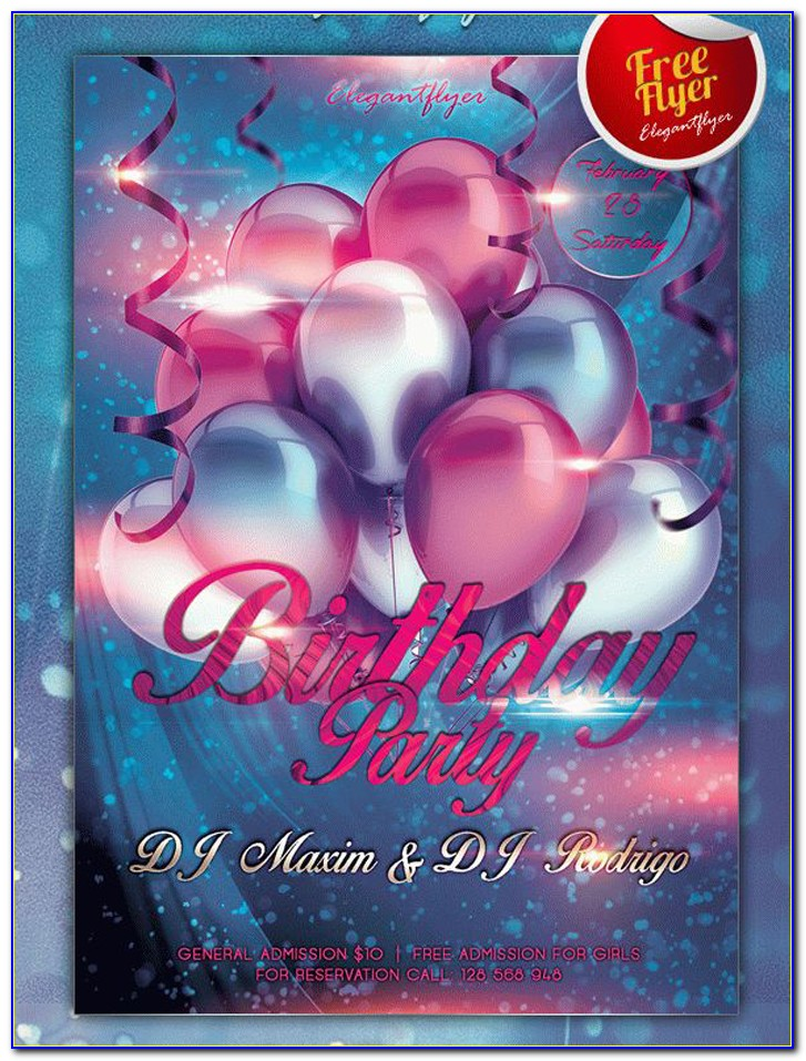 Free Birthday Flyer Templates Word