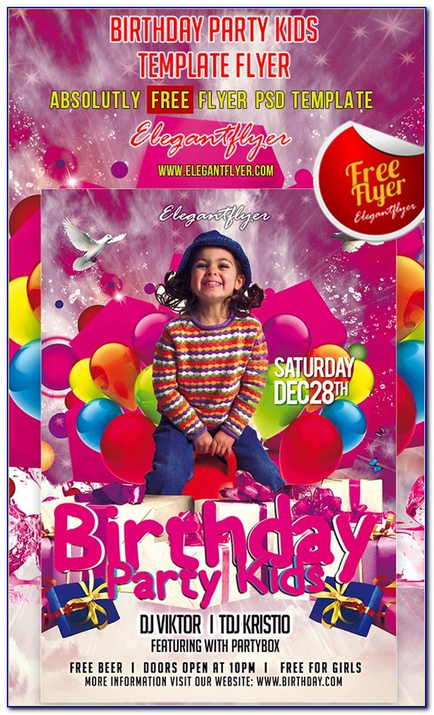 Free Birthday Party Flyer Templates Psd
