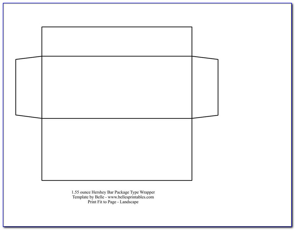 Free Blank Candy Bar Wrapper Template For Word