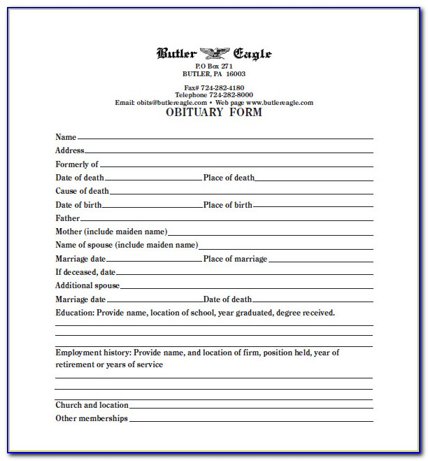 Free Blank Funeral Program Templates Microsoft Word