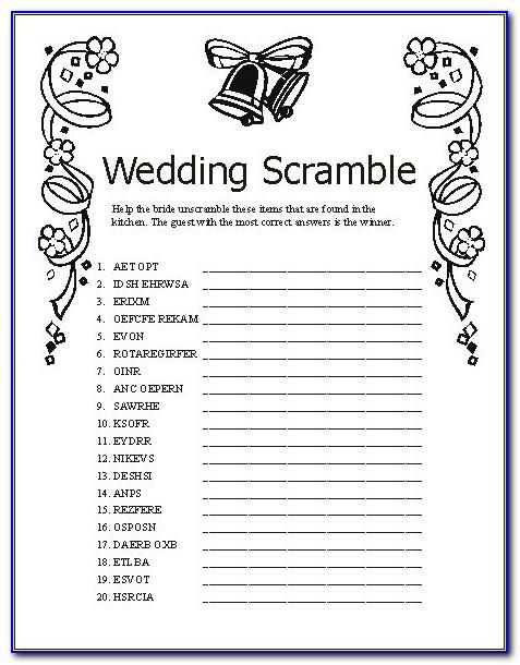 Free Bridal Shower Printables