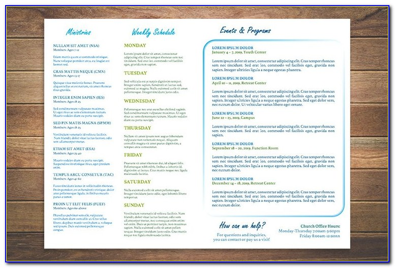 Free Church Bulletin Templates For Pages